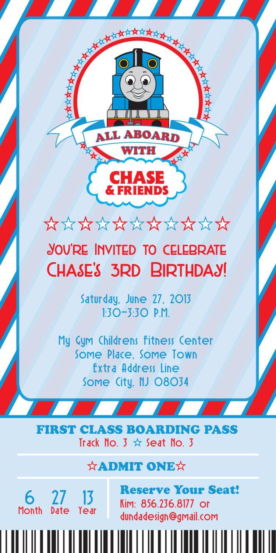 Thomas The Train Birthday Invitation 2500 Via Etsy