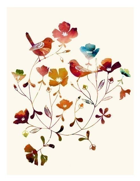 Little Sparrows rainbow edition by yumiyumi on Etsy