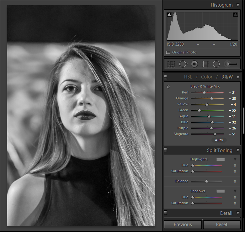This photoshop tutorial will show you how to soften harsh shadows in black and white portraits