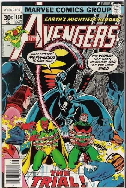 Avengers 160 - Verdict - The Trial - June - 160 - Heroes - George Perez