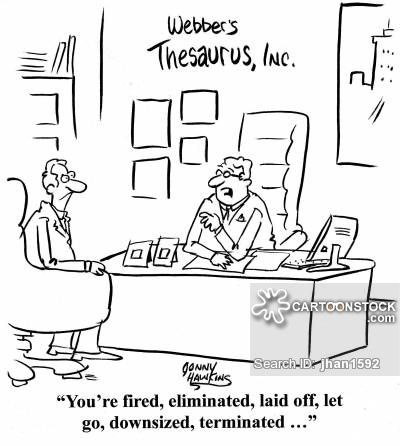 synonyms cartoon antonyms cartoons synonym terminated terminate employee downsizing funny contract fired leadership comics management answer development words re office