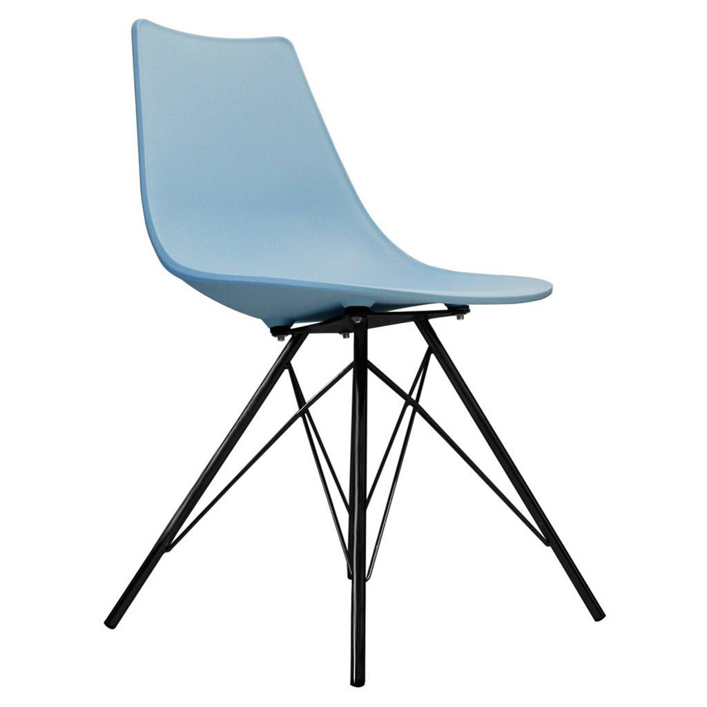 Fantastic Oslo Chair Blue With Black Metal Legs Angelas Kitchen In Caraccident5 Cool Chair Designs And Ideas Caraccident5Info
