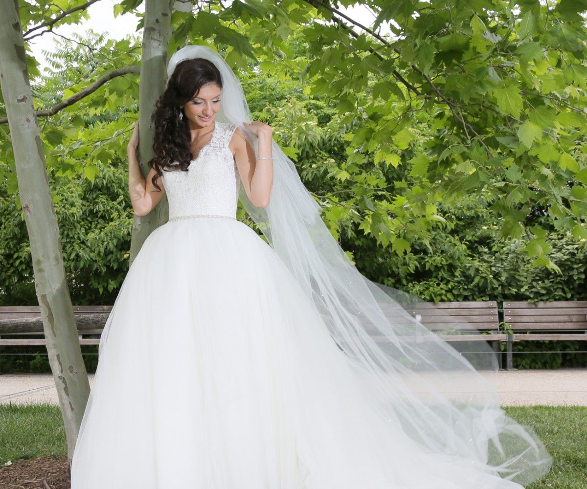 Wedding Veil Cathedral Two Tier Veil with Heavily