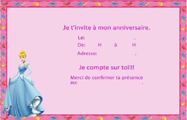 Carte d'invitation gratuite anniversaire enfant.