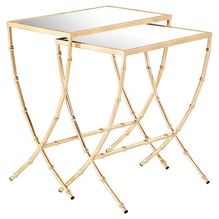 2-Piece Sterling Mirrored Nesting Table Set at Joss and Main