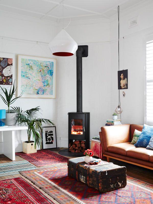 Inspiration déco  Des tapis ethniques Design files, Milling and - plan maison avec appartement