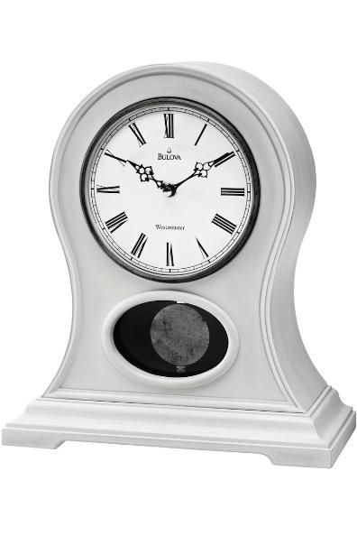 Bulova Allarie Ii Mantel Chimes Clock B7661 Allarie Ii This Clock Has A Solid Wood And Wood Veneer Case Anti White Mantel Clocks Mantel Clock Mantel Clocks