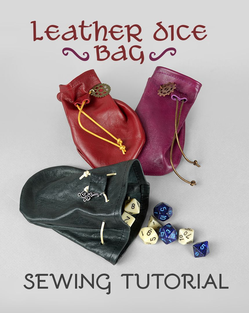 Leather Dice Bag Sewing Pattern by SewDesuNe.deviantart.com on ...