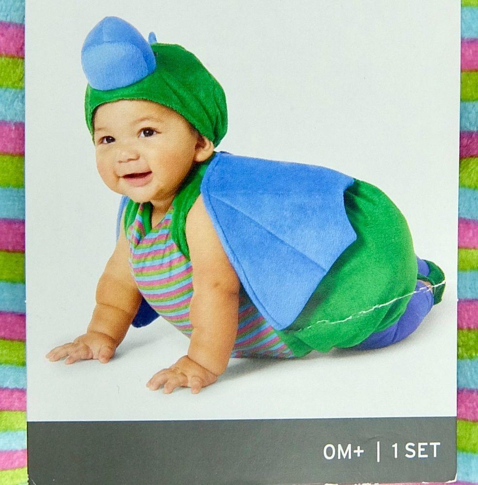 dragon halloween costume blue green pink headpiece booties boy girl