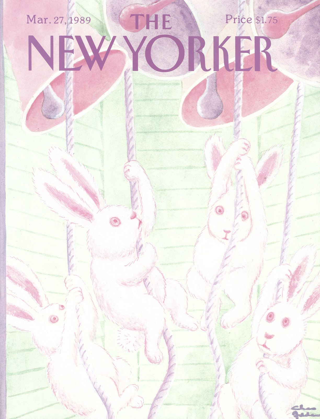 The New Yorker - Monday, March 27, 1989 - Issue # 3345 - Vol. 65 - N° 6 - Cover by : Charles Addams