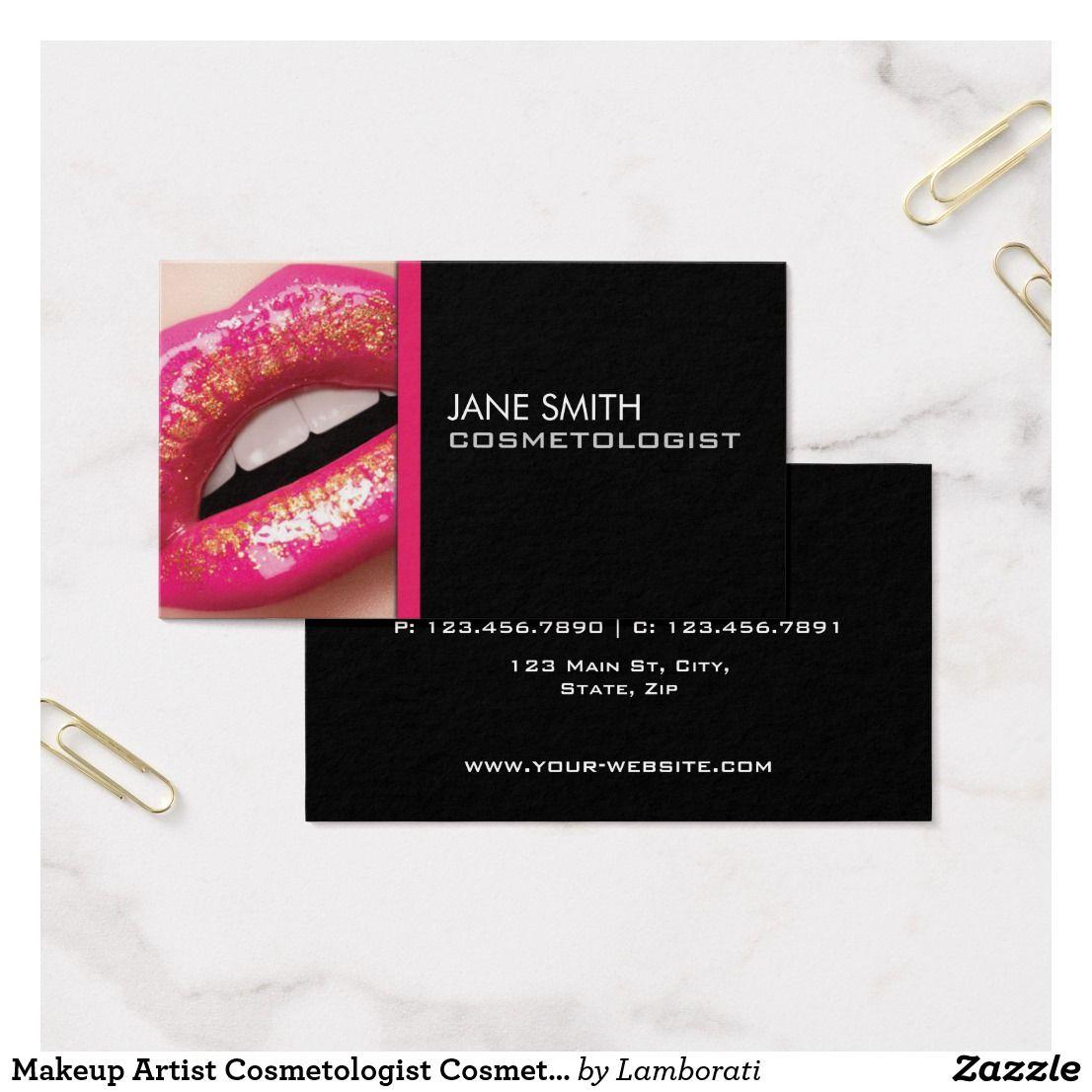 Makeup Artist Cosmetologist Cosmetology Groupon Business Card ...