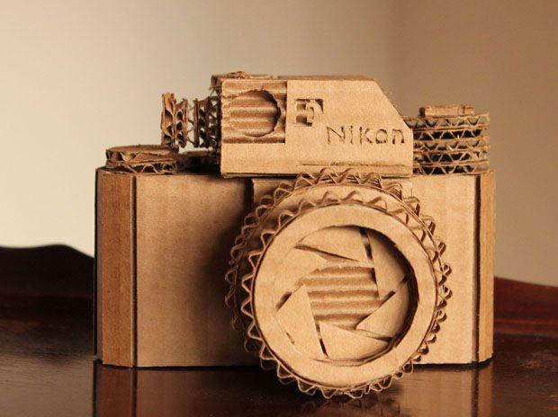 Craft Idea Turn A Cardboard Box Into A Replica Of Your Camera