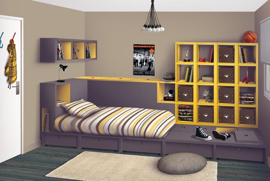 mod le d co chambre ado deco chambre ados ado et deco. Black Bedroom Furniture Sets. Home Design Ideas