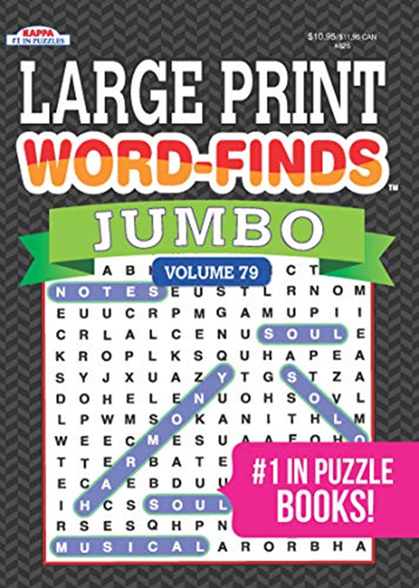 Jumbo Large Print Word Finds Puzzle Book Word Search Vol 79 By Kappa Books Publishers Kappa Books Publishers Puzzle Books Word Find Book Publishing