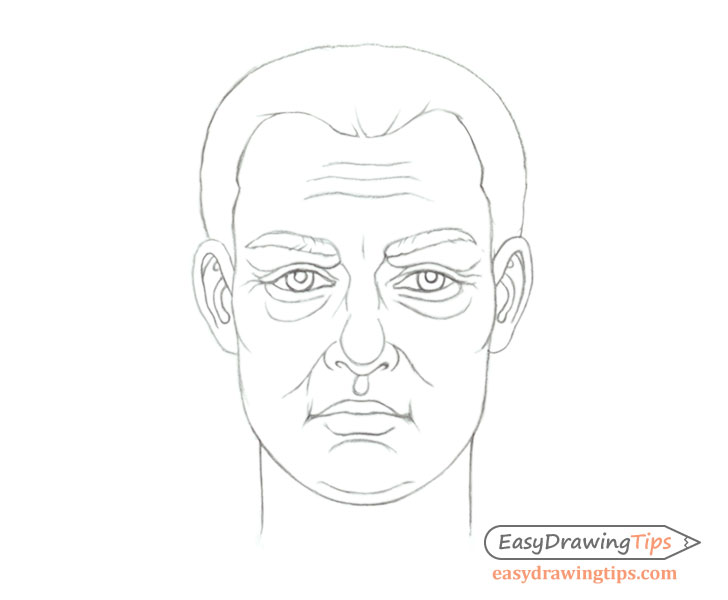 Tips On Drawing The Same Male Face Of Different Ages Easydrawingtips Male Face Drawing Male Face Person Drawing