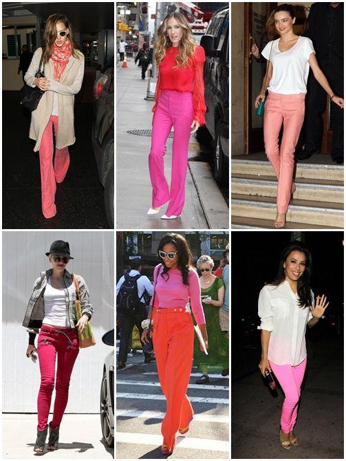 Verão 2013: A supertendência das pink pants!#HotTrend!