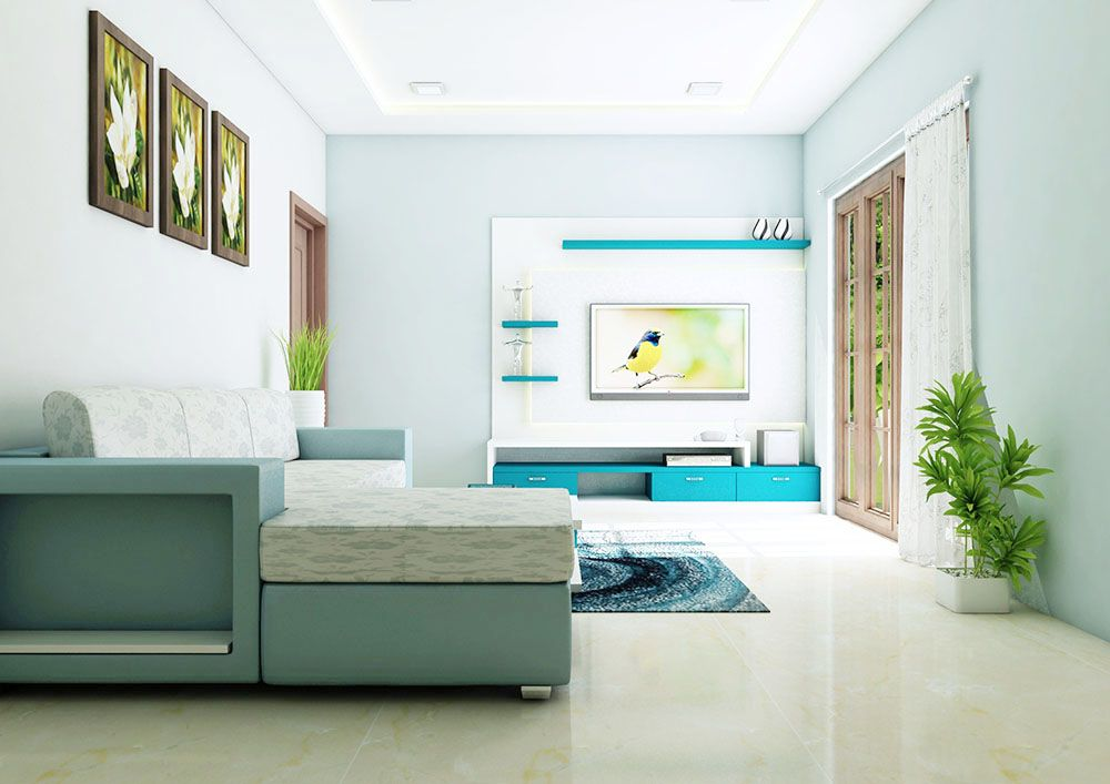 Living Room Furniture Set Made Up Of Plywood With Laminate Finish