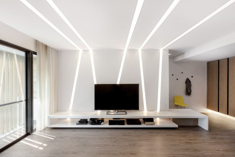 H2O+CO2 THE WHITE LIGHT APARTMENT Iluminacion Pinterest - Techos Interiores Con Luces