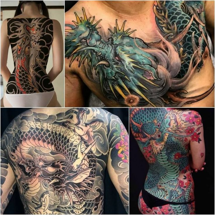 drachen tattoos - drachen tattoos bedeutung - chinesische