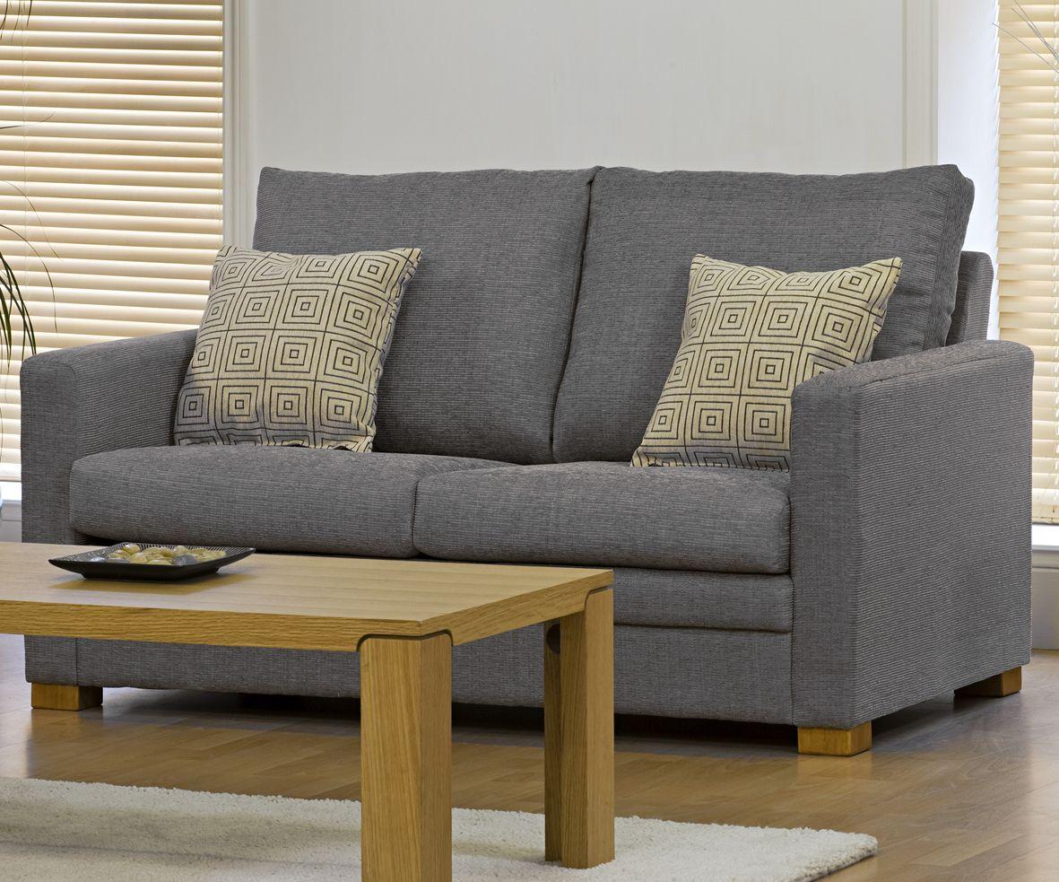 Elegant Grey Sofas Wooden Table Cream Carpet Modern Living