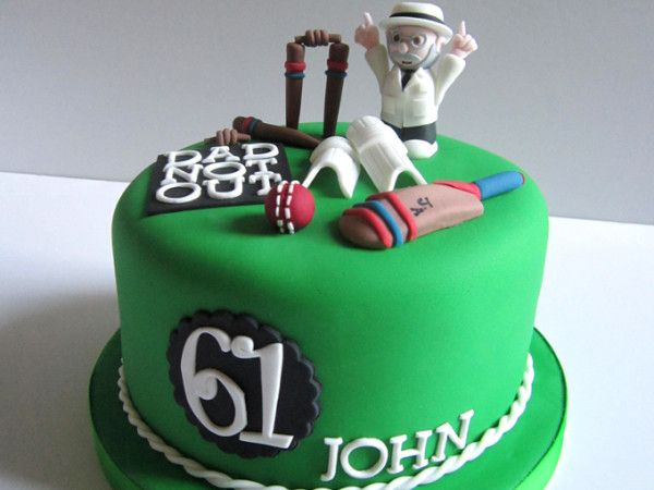 cricket themed cake - Google Search Sporty Cakes ...
