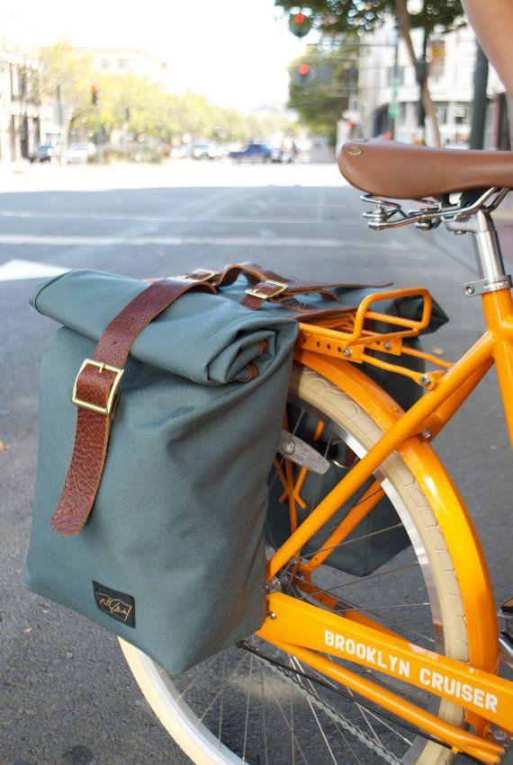 Saddle Bag Leather Trim By Motleygoods On Etsy 185 00 Black Bags For Sale Women Bags Online Handbag Bag Spons Bike Panniers Bicycle Panniers Pannier Bag