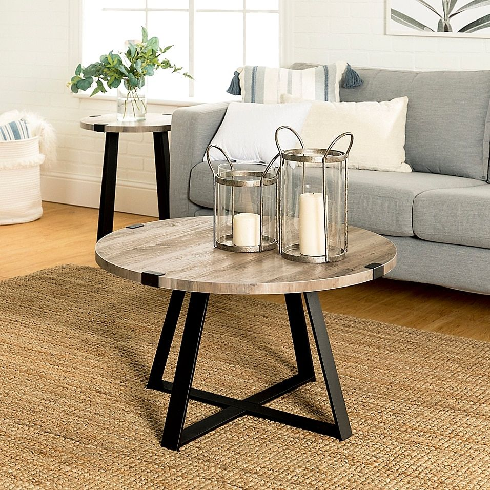 Forest Gate Sage Industrial Modern Round Coffee Table Bed Bath Beyond In 2021 Coffee Table Carbon Loft Round Coffee Table Modern [ 956 x 956 Pixel ]