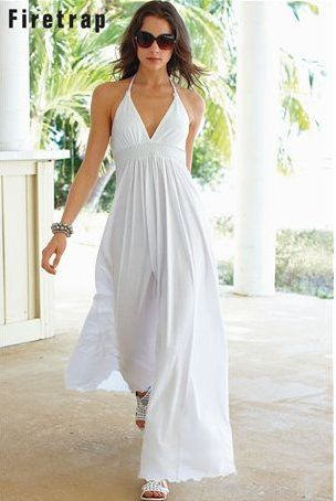 17 Best images about The Summer White Dress on Pinterest  Halter ...