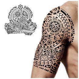 Yin yang tikis tattoo | Maori, tribal shoulder tatts | Pinterest ...