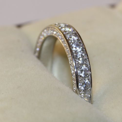 3 5mm Luxury Quality Ctw Nscd Synthetic Diamond Vintage Infinity Wedding Bands Anniversary Rings Genuine
