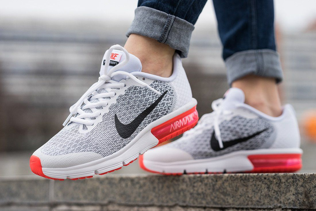 3b32178a3e2 Nike Air Max Sequent 2 GS (White Bright Crimson) – Sneaker Freaker ...