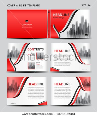 Red cover design and inside template for magazine ads presentation red cover design and inside template for magazine ads presentation annual report spiritdancerdesigns Image collections