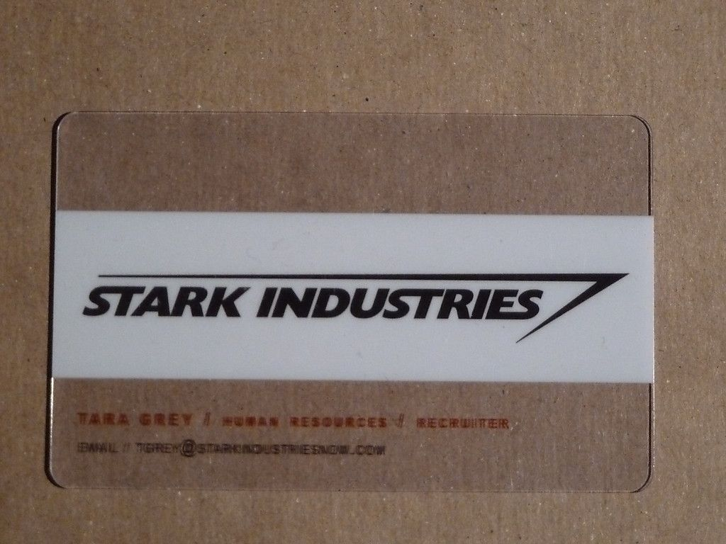 2009 sdcc comic con iron man 2 stark industries tara grey plastic 2009 sdcc comic con iron man 2 stark industries tara grey plastic business card magicingreecefo Gallery