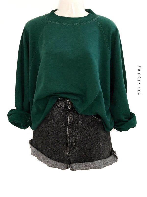 Mein Lassiger Vintage Oversize Hoodie Sweater Clean Dunkelgrun Urban Street Style Trend 90er Jahre Pulli Von True Vinta Clothes Fashion Oversize Hoodie Sweater