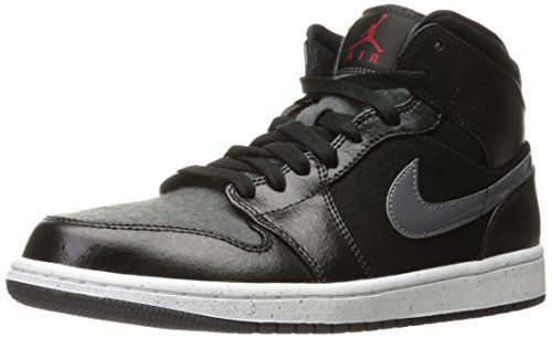 2bf27bed3a89a5 Nike Air Jordan 1 Mid PREM Mens Hi Top Basketball Trainers 852542 Sneakers  Shoes (US 10
