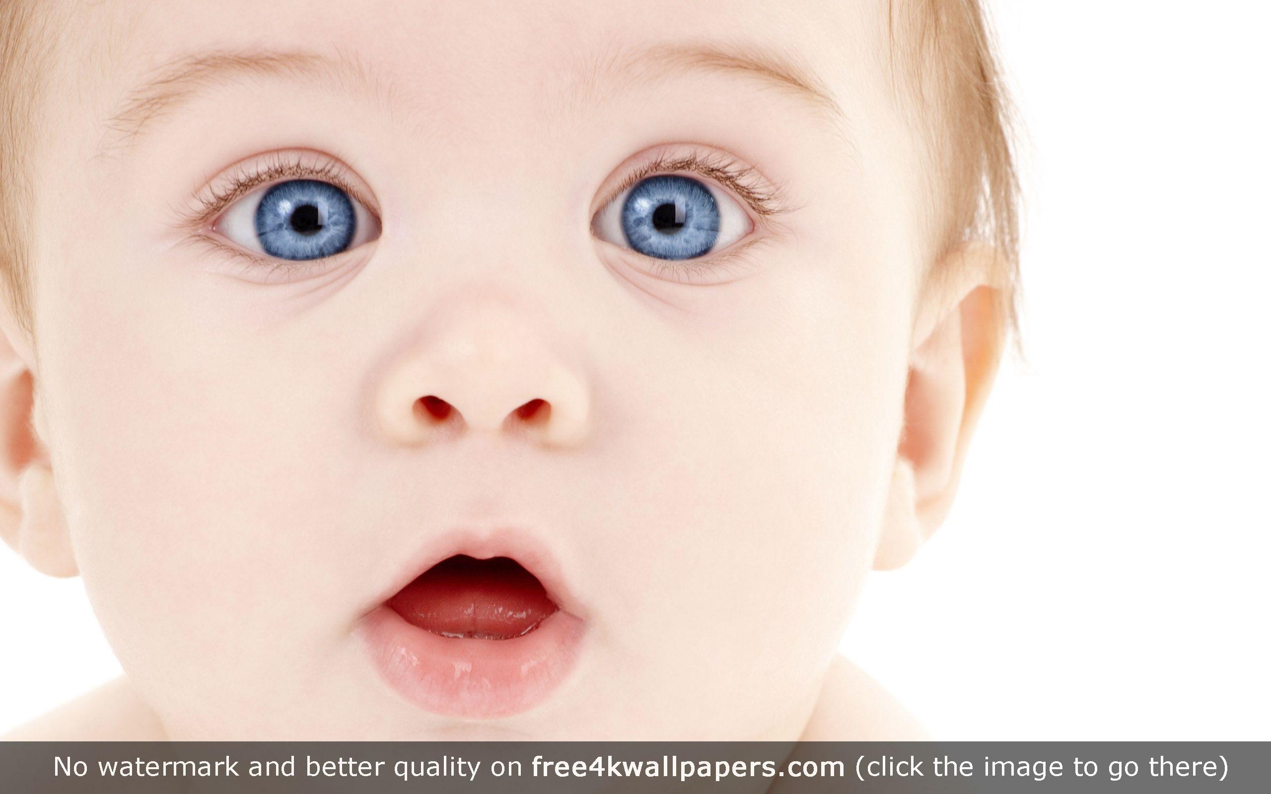 Blue Eyes Cute Baby HD Wallpaper