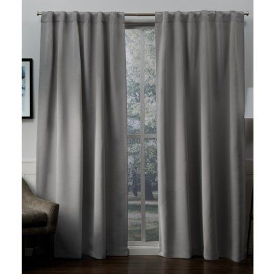 Red Barrel Studio Hagerman Solid Blackout Thermal Tab Top Curtain