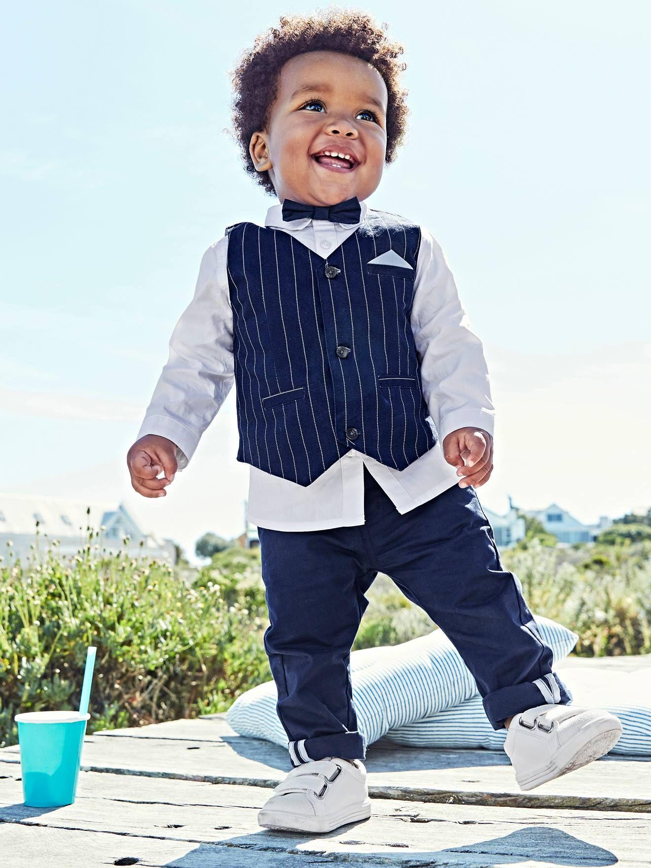 2PC Infant Baby Boys Costume Enfants Garçon Vêtements Vêtements Tenues Ensembles Chemise Pantalon