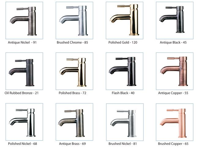 Faucet Finishes Samples And How To S Bathroom Faucets