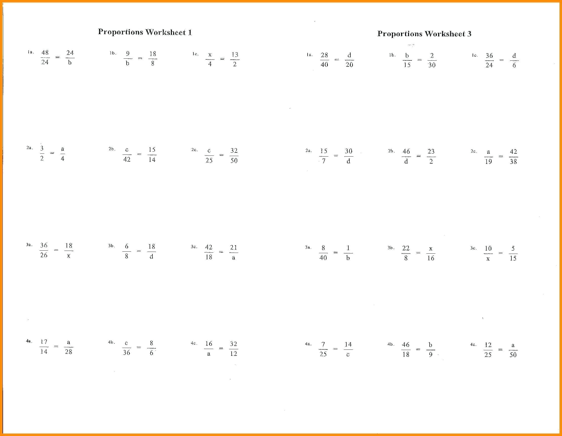 41 Simple Ratio Worksheets Design S Bacamajalah