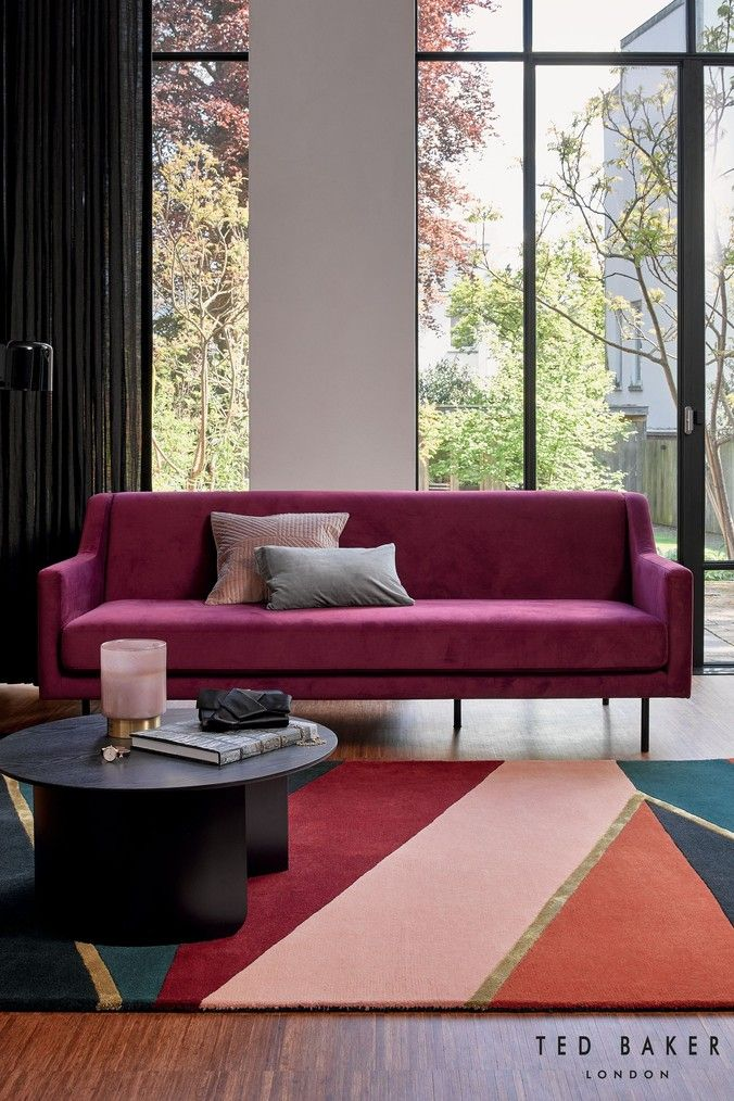 Ted Baker Sahara Rug Pink In 2020 Carpet Design Contemporary