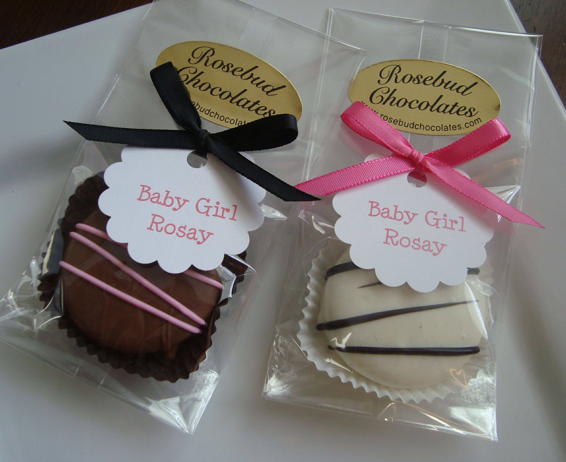 Chocolate Dipped Oreo Cookies Baby Shower Favors Personalized