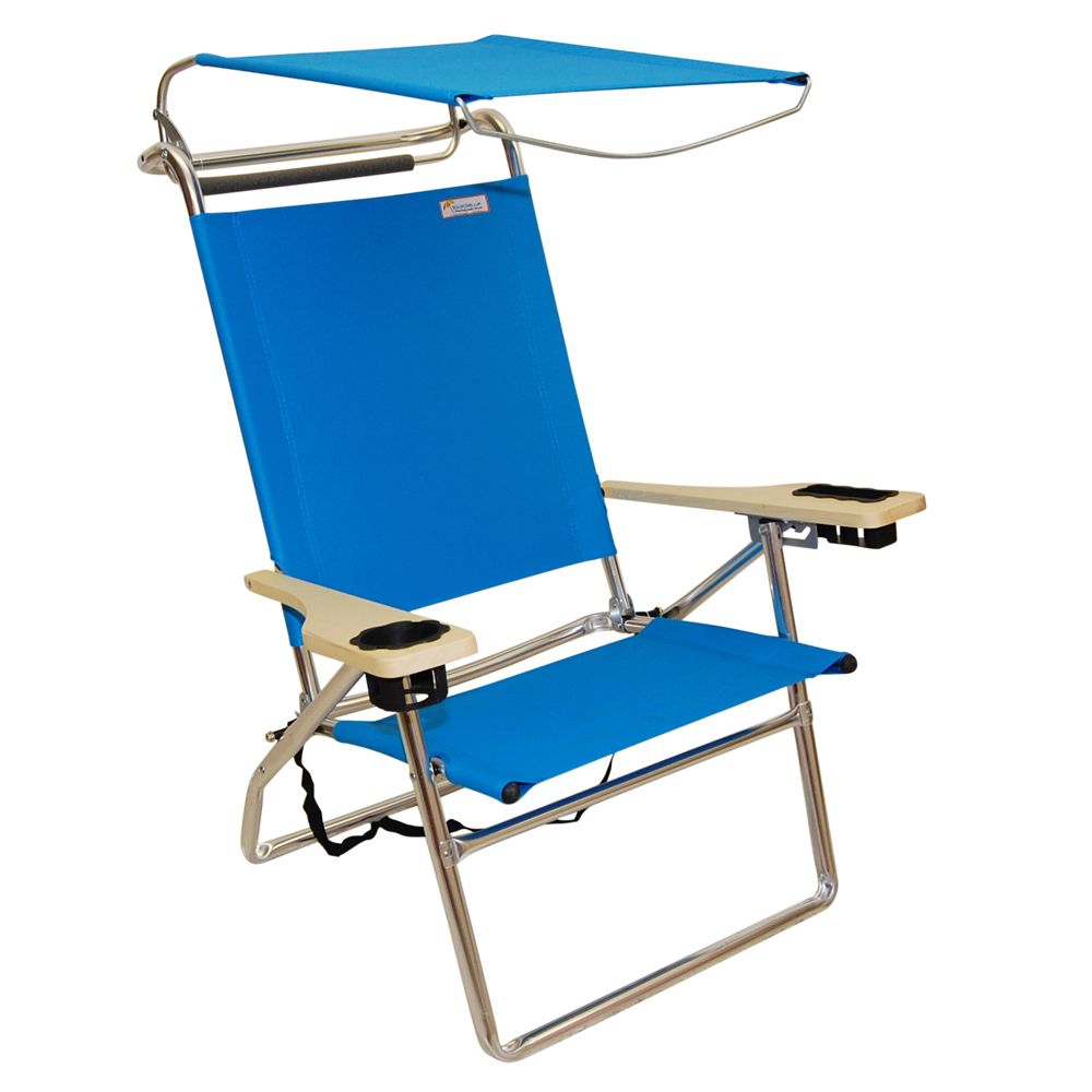 Reclining Beach Chair with Canopy - Home Furniture Design  sc 1 st  Pinterest & Canopy Hi-Seat Aluminum Beach Chair - Light Blue | Beach chairs ...
