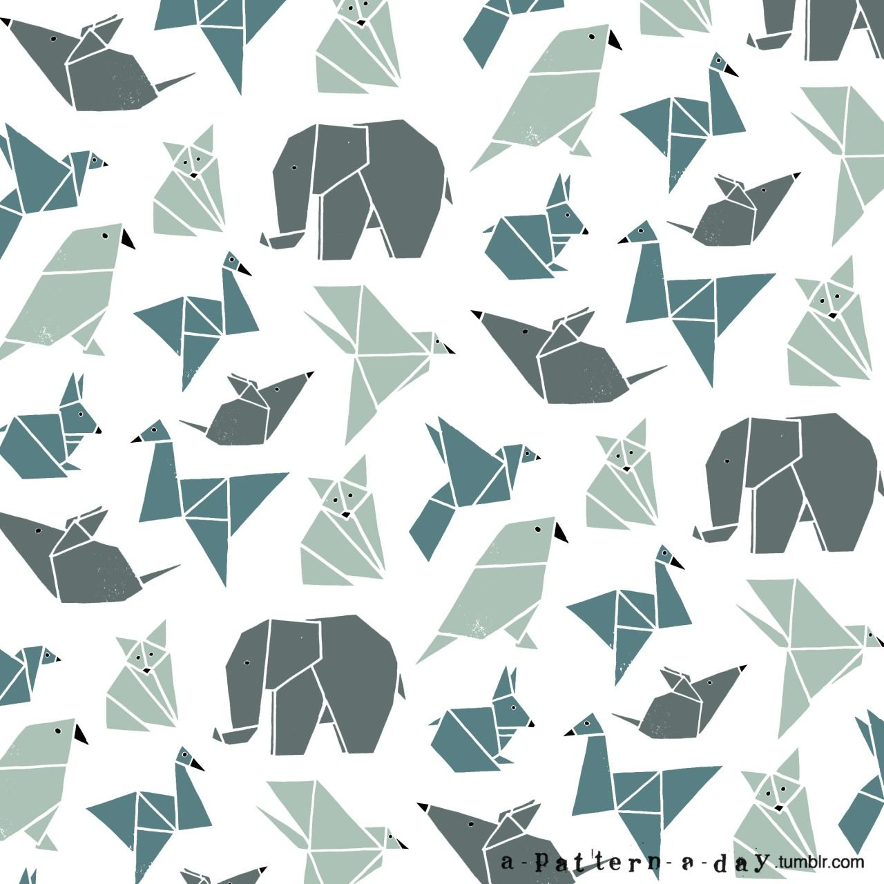 origami animals patterns fractals pinterest pattern