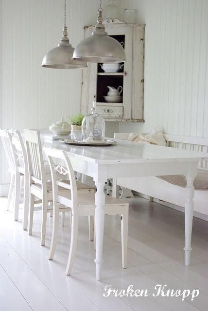 Landelijke witte eetkamer   ♡ Home Sweet Home ♡   Pinterest ...