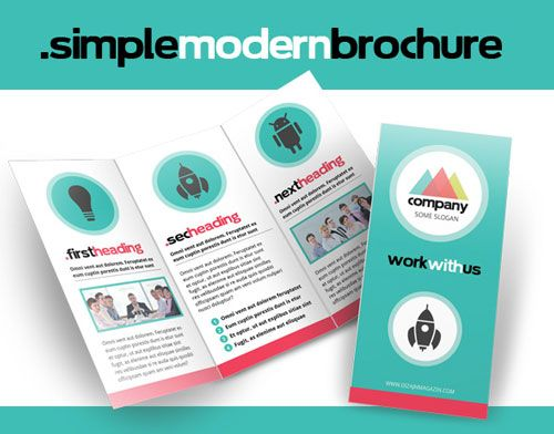 free simple modern brochure indesign template