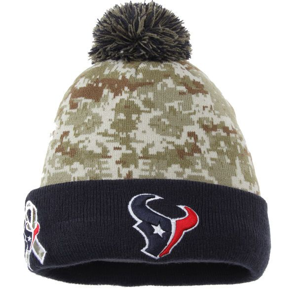 e36a13357eb Youth Houston Texans New Era Camo On Field Sport Salute to Service Knit Hat