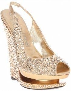 Sandalia Anabela Com Cristais Sapatos De Casamento Botas De