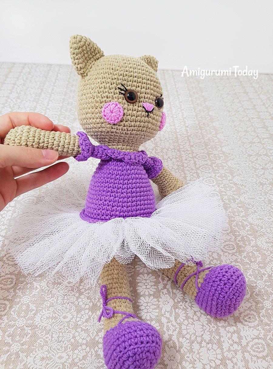 Patrón de croché de gato bailarina de Amigurumi Today | gatitos ...