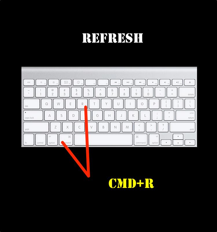 Command R Refresh Keyboard Mac Keyboard Shortcuts Mac